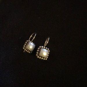 Silpada earrings, pearl. 925